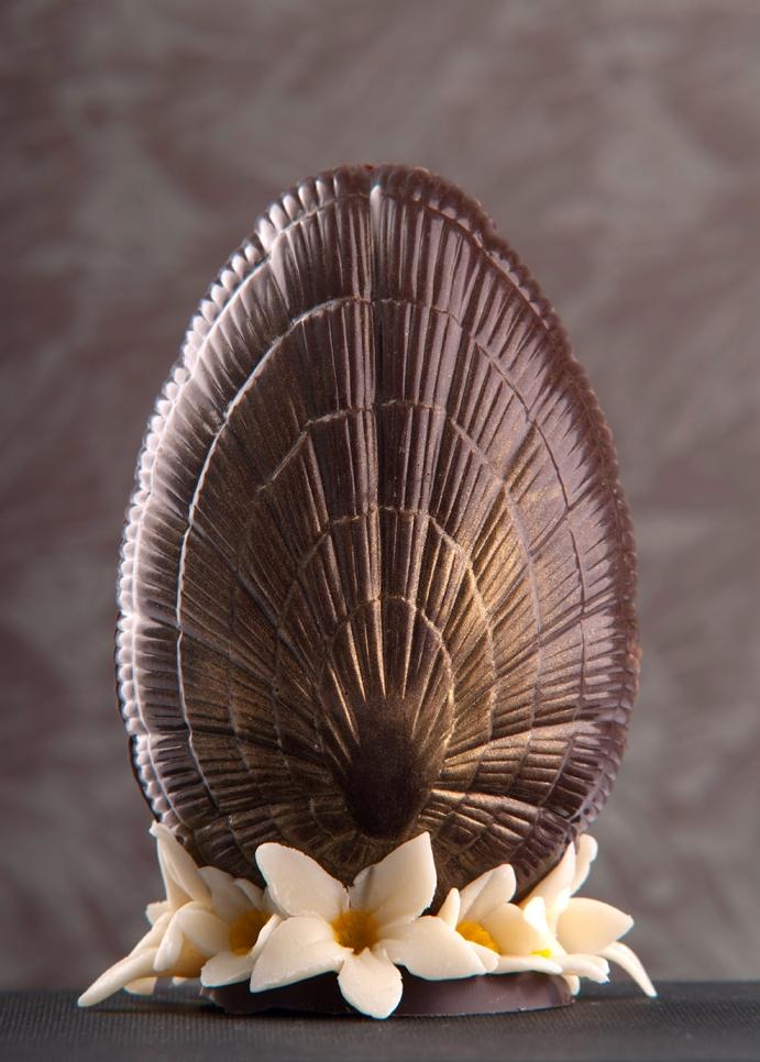 Шоколадово Великденско яйце, тип паяжина